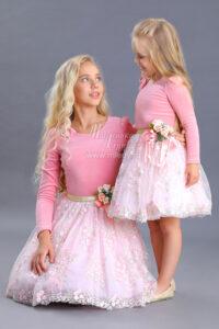 Платье для девочки лавандовое